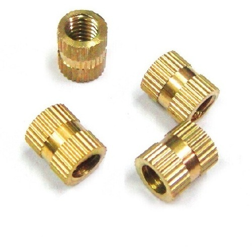 Brass Straight Knurled Inserts For Plastic, Thermostate Injection molding Metal Part